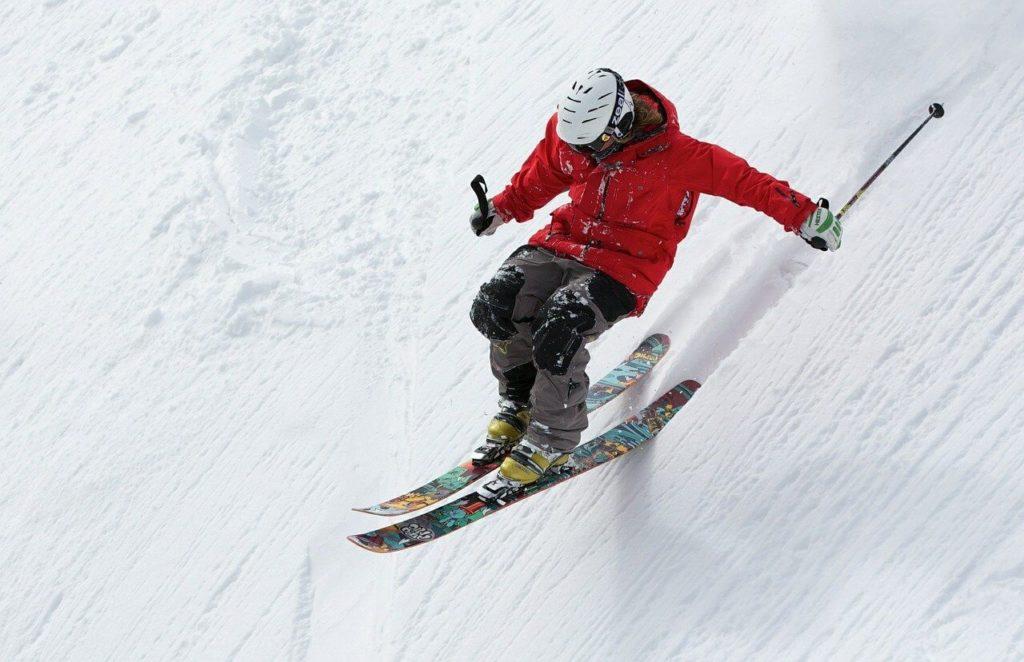 不運なスキー事故